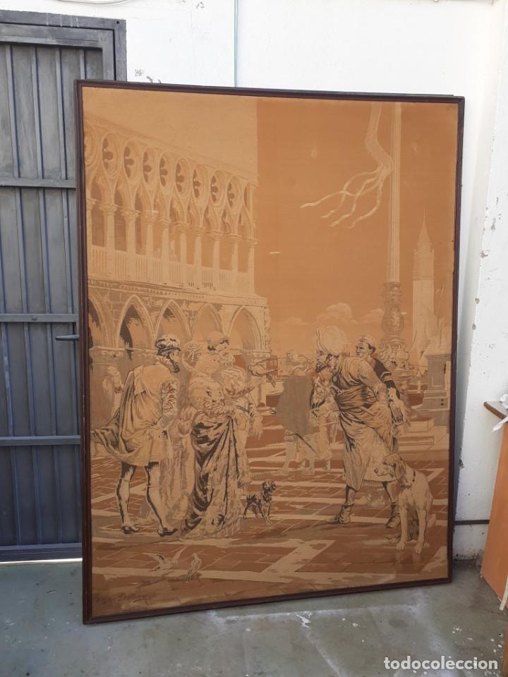 TAPIZ GRANDE (Antigüedades - Hogar y Decoración - Tapices Antiguos)