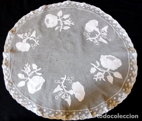 ANTIGUO TAPETE DE ENCAJE - PPIO. XX (Antigüedades - Hogar y Decoración - Tapetes Antiguos)
