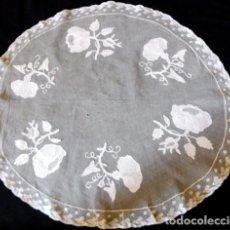 Antigüedades: ANTIGUO TAPETE DE ENCAJE - PPIO. XX. Lote 194117161