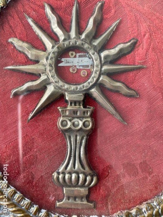 Antigüedades: RELICARIO DEL XIX , GRAN TAMAÑO 22 X 19 CM. , JESUS ... - Foto 2 - 194120392