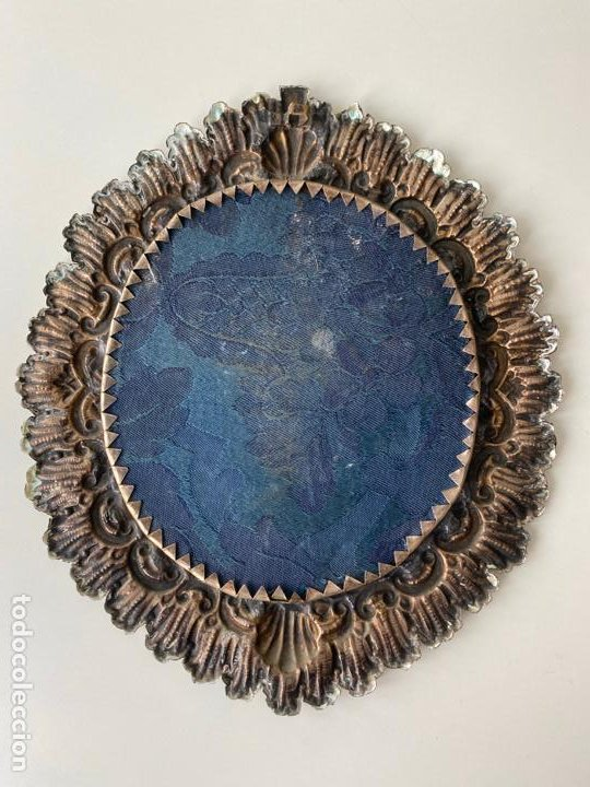 Antigüedades: RELICARIO DEL XIX , GRAN TAMAÑO 22 X 19 CM. , JESUS ... - Foto 3 - 194120392