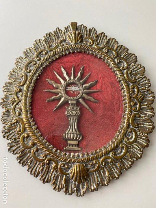 RELICARIO DEL XIX , GRAN TAMAÑO 22 X 19 CM. , JESUS ... (Antigüedades - Religiosas - Relicarios y Custodias)