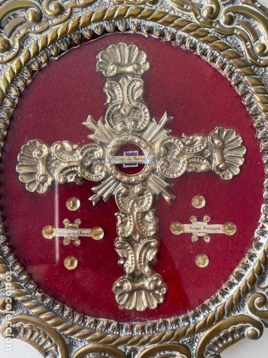 Antigüedades: RELICARIO DEL XIX , GRAN TAMAÑO 24 X 17 CM. CRISTO DE PASION , AMARGURA , VIRGEN DE LOS REYES - Foto 3 - 194120483