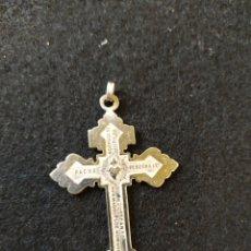Antigüedades: CRUZ DE PLATA, CORAZÓN DE JESÚS CON INSCRIPCION.. Lote 194122262