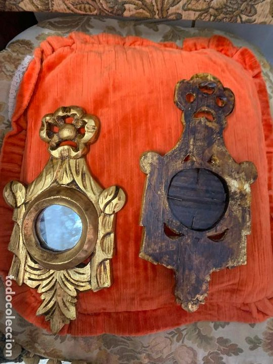 Antigüedades: Pareja de Cornocopias en madera - Foto 2 - 194128005