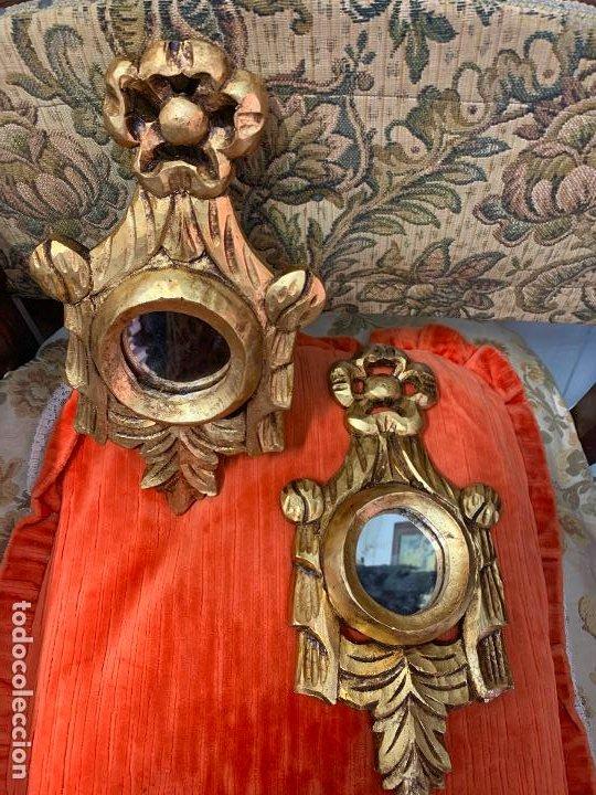 Antigüedades: Pareja de Cornocopias en madera - Foto 4 - 194128005