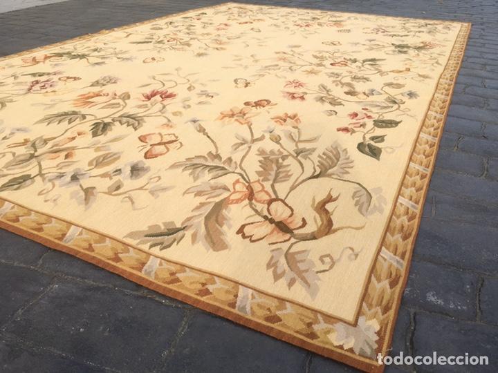 Antigüedades: Alfombra francesa o tapiz Aubusson (297x183) - Foto 2 - 194129453