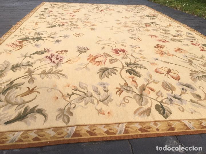 Antigüedades: Alfombra francesa o tapiz Aubusson (297x183) - Foto 5 - 194129453