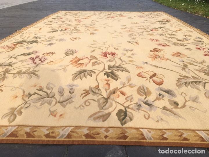 Antigüedades: Alfombra francesa o tapiz Aubusson (297x183) - Foto 6 - 194129453