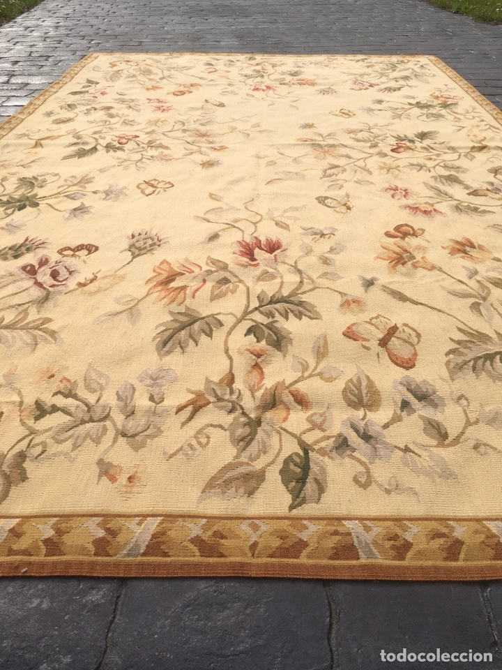 Antigüedades: Alfombra francesa o tapiz Aubusson (297x183) - Foto 8 - 194129453