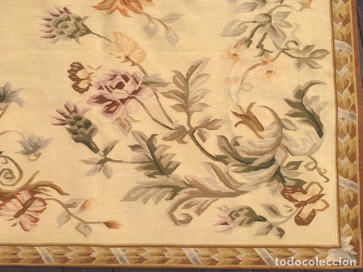 Antigüedades: Alfombra francesa o tapiz Aubusson (297x183) - Foto 9 - 194129453
