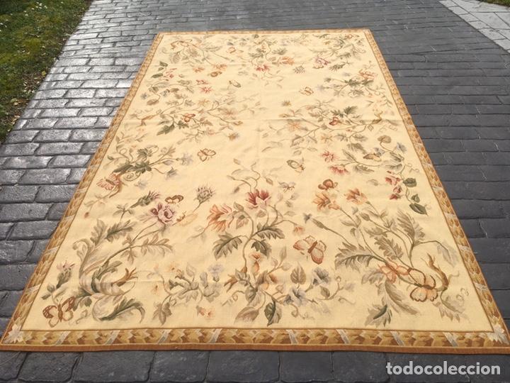 Antigüedades: Alfombra francesa o tapiz Aubusson (297x183) - Foto 11 - 194129453