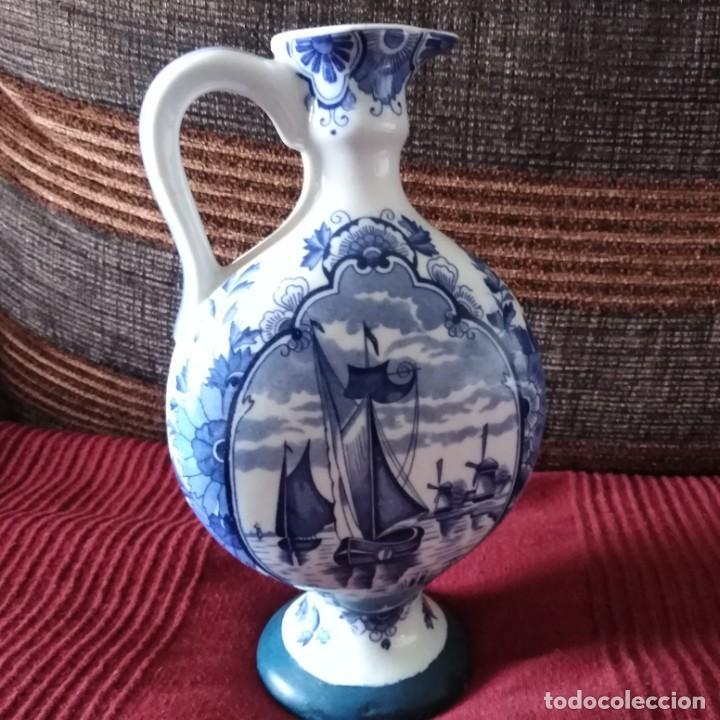 ANTIGUA JARRA DE PORCELANA HOLANDESA DE DELFT DEL SIGLO XIX (Antigüedades - Porcelana y Cerámica - Holandesa - Delft)