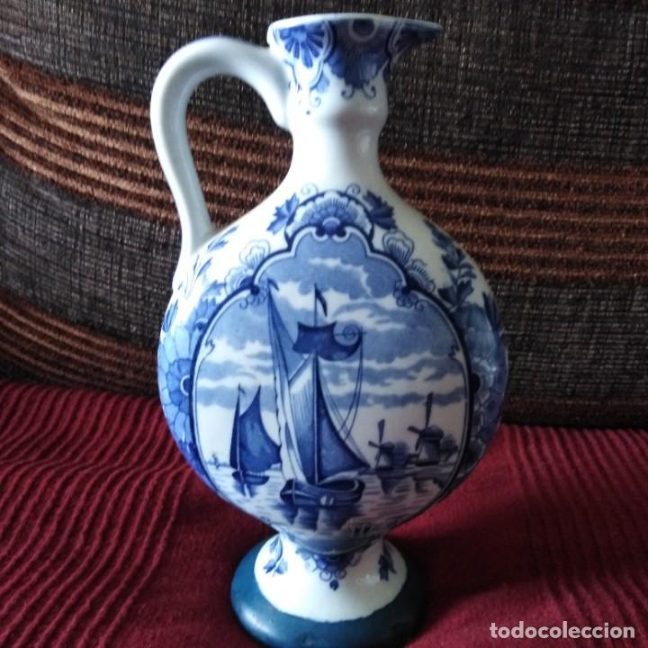 Antigüedades: Antigua Jarra de porcelana holandesa de Delft del siglo xix - Foto 3 - 194132108