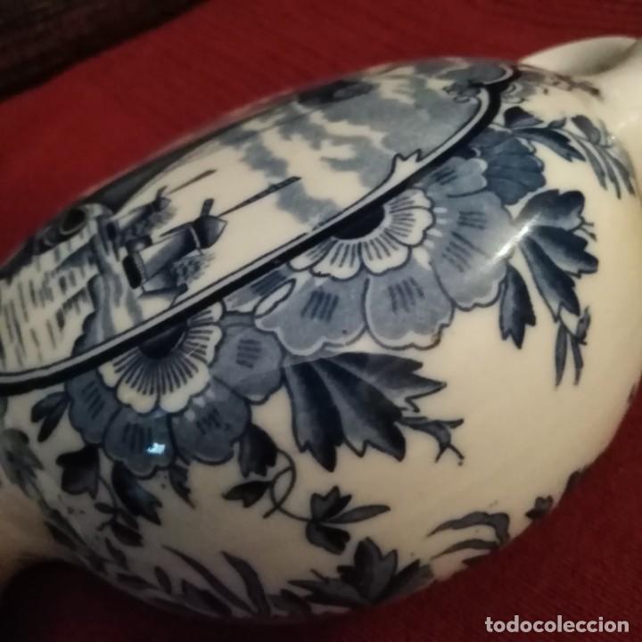 Antigüedades: Antigua Jarra de porcelana holandesa de Delft del siglo xix - Foto 4 - 194132108