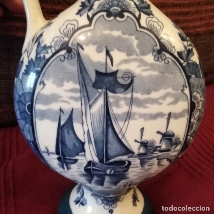 Antigüedades: Antigua Jarra de porcelana holandesa de Delft del siglo xix - Foto 7 - 194132108