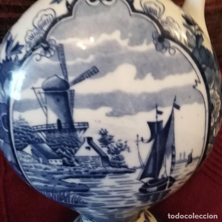 Antigüedades: Antigua Jarra de porcelana holandesa de Delft del siglo xix - Foto 8 - 194132108