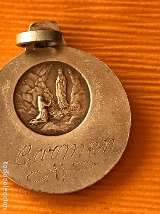 Antigüedades: Medalla Virgen - Foto 2 - 194137715