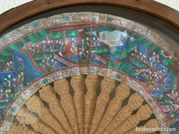 ABANICO CHINO SIGLO XIX CON ABAIQUERA , (Antigüedades - Moda - Abanicos Antiguos)