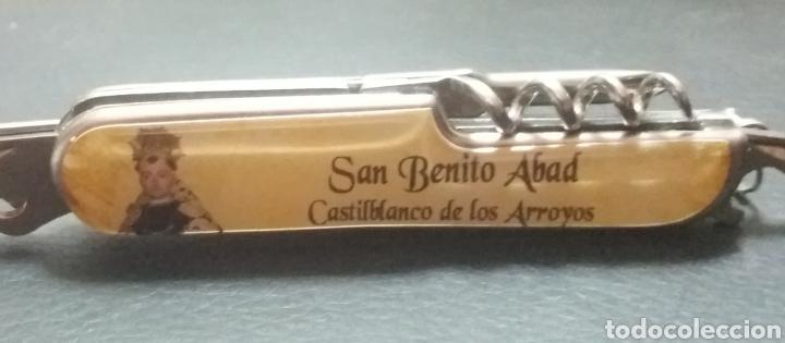 NAVAJITA RECUERDO DE SAN BENITO ABAD, CASTILBLANCO DE LOS ARROYOS SEVILLA (Antigüedades - Religiosas - Varios)