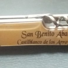 Antigüedades: NAVAJITA RECUERDO DE SAN BENITO ABAD, CASTILBLANCO DE LOS ARROYOS SEVILLA. Lote 194148310