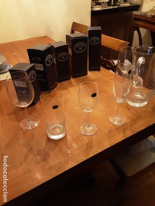 Antigüedades: Cristalería copas de Bohemia, 32 piezas, sin uso, con etiquetas y cajas originales - Foto 2 - 194153852