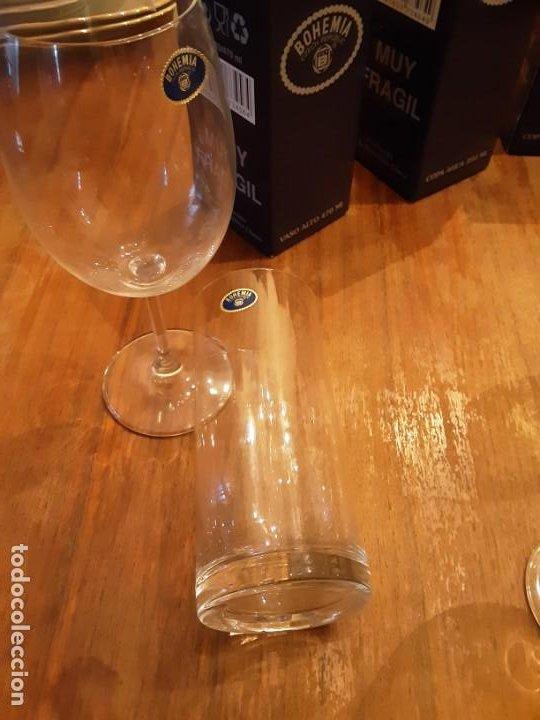 Antigüedades: Cristalería copas de Bohemia, 32 piezas, sin uso, con etiquetas y cajas originales - Foto 3 - 194153852