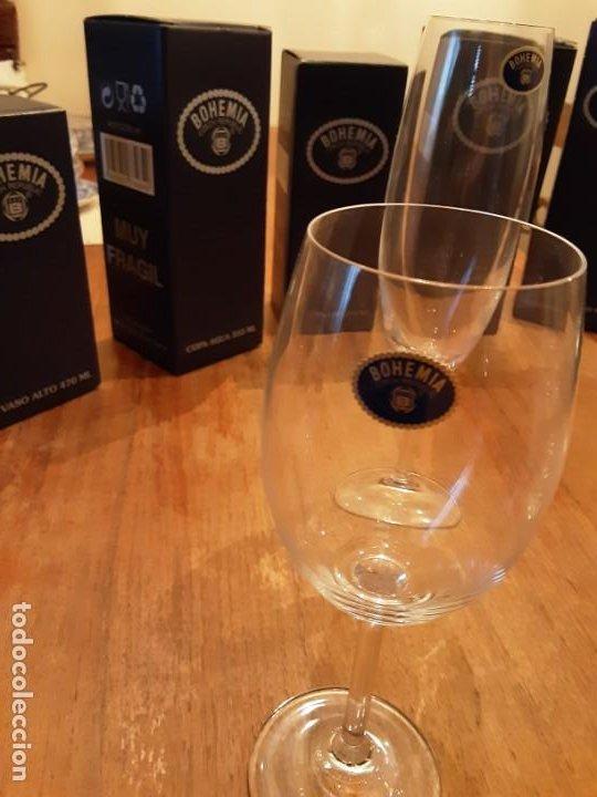 Antigüedades: Cristalería copas de Bohemia, 32 piezas, sin uso, con etiquetas y cajas originales - Foto 4 - 194153852