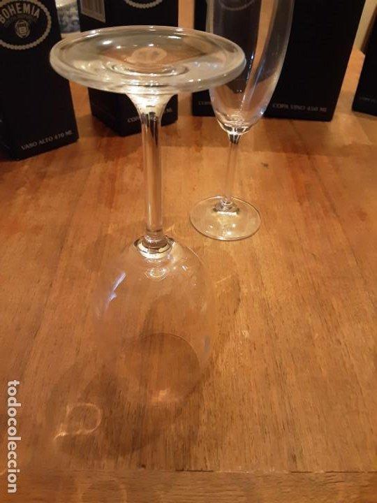 Antigüedades: Cristalería copas de Bohemia, 32 piezas, sin uso, con etiquetas y cajas originales - Foto 5 - 194153852