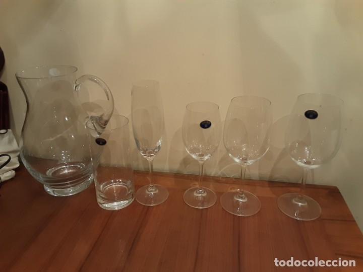 Antigüedades: Cristalería copas de Bohemia, 32 piezas, sin uso, con etiquetas y cajas originales - Foto 7 - 194153852
