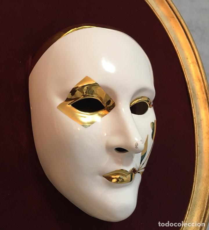 Antigüedades: RACACER, Máscara Veneciana Racacer - Foto 9 - 194156633