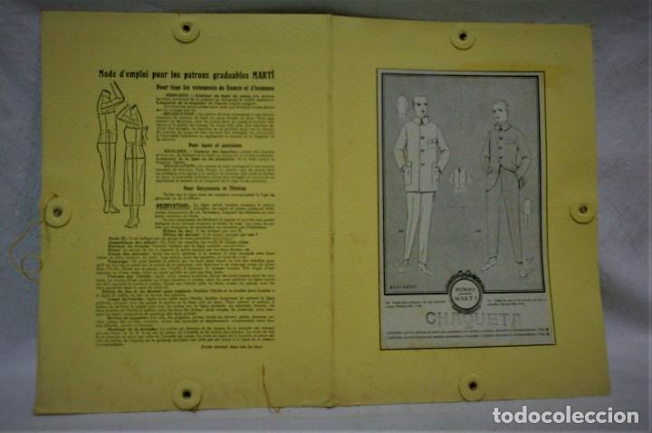 Antigüedades: PATRONES GRADUABLES MARTÍ. TRAJES,CHAQUETA Y PANTALÓN 2 CARPETAS Y 2 PLANCHAS PATRONES - Foto 5 - 194158238