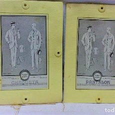 Antigüedades: PATRONES GRADUABLES MARTÍ. TRAJES.2 CARPETAS CON INSTRUCCIONES Y 2 PLANCHAS PATRONES. Lote 194158478