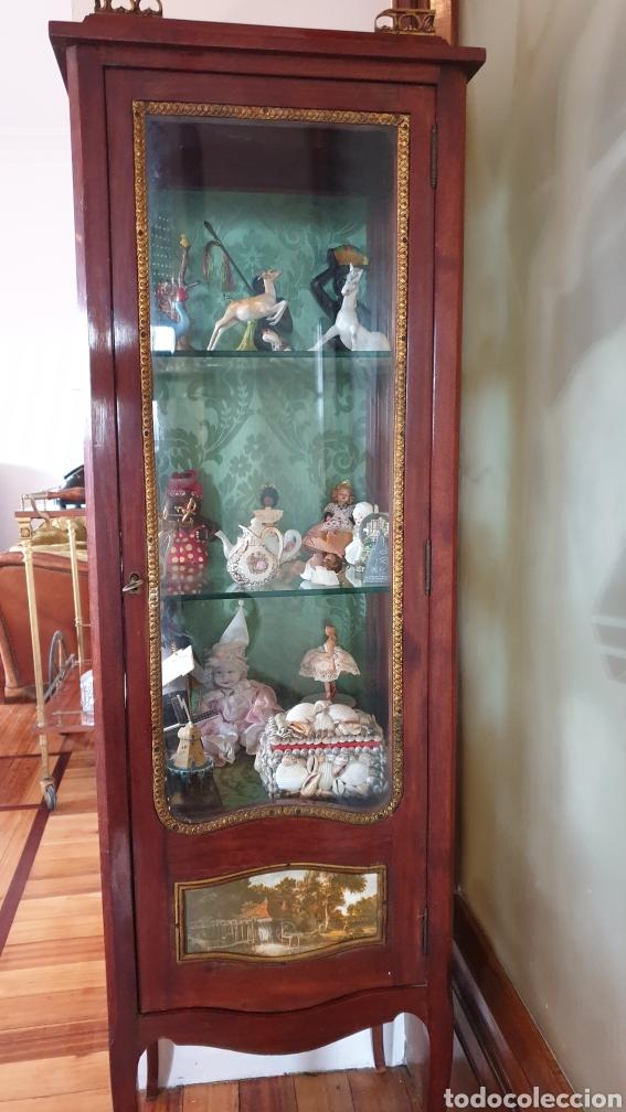 Antigüedades: Vitrina antigua en madera de caoba estilo luis xv - Foto 4 - 194162940