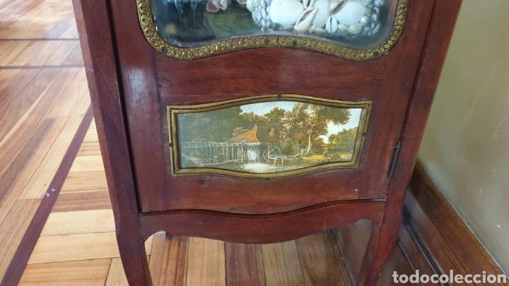 Antigüedades: Vitrina antigua en madera de caoba estilo luis xv - Foto 5 - 194162940