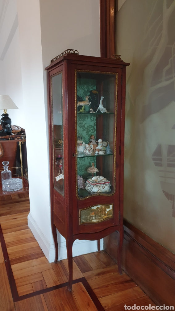 Antigüedades: Vitrina antigua en madera de caoba estilo luis xv - Foto 6 - 194162940