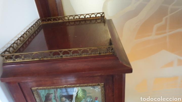 Antigüedades: Vitrina antigua en madera de caoba estilo luis xv - Foto 7 - 194162940