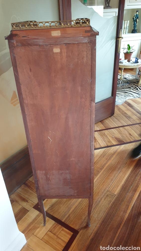 Antigüedades: Vitrina antigua en madera de caoba estilo luis xv - Foto 9 - 194162940