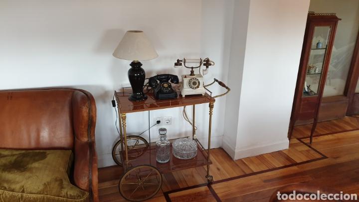 Antigüedades: Carrito antiguo para bebidas , caoba y bronce - Foto 3 - 194164332