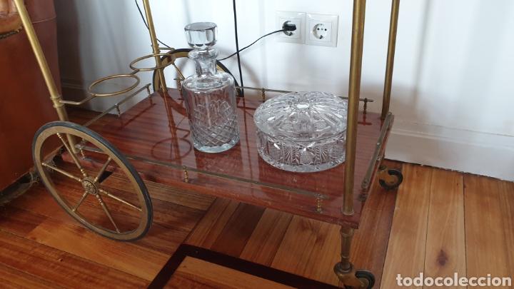 Antigüedades: Carrito antiguo para bebidas , caoba y bronce - Foto 4 - 194164332