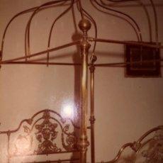 Antigüedades: CAMA DE BRONCE CON DOSEL. Lote 194175082