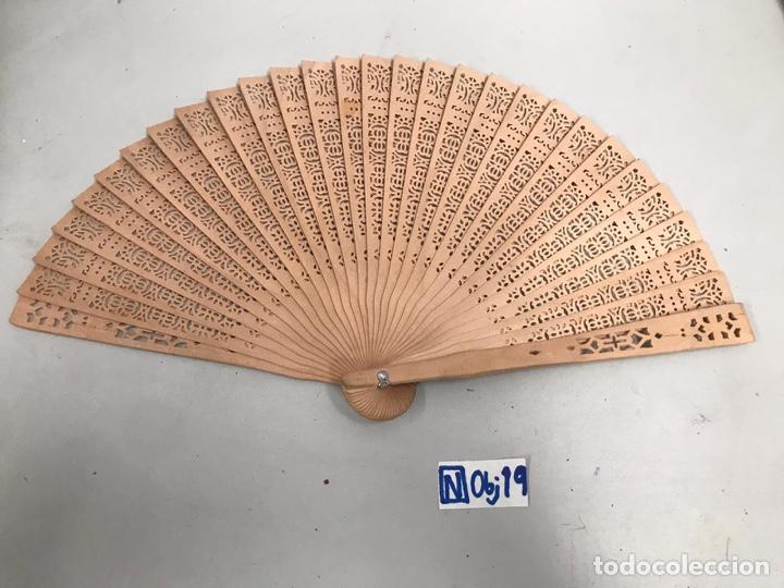 ABANICO MADERA (Antigüedades - Moda - Abanicos Antiguos)
