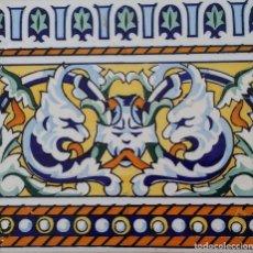 Antigüedades: AZULEJO VALENCIANO ENMARCADO. Lote 194187842