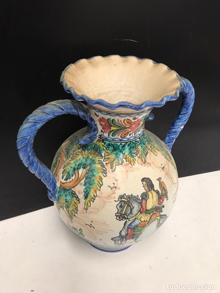 Antigüedades: Gran jarrón de cerámica esmaltada punte del arzobispo siglo XIX - Foto 2 - 194188472