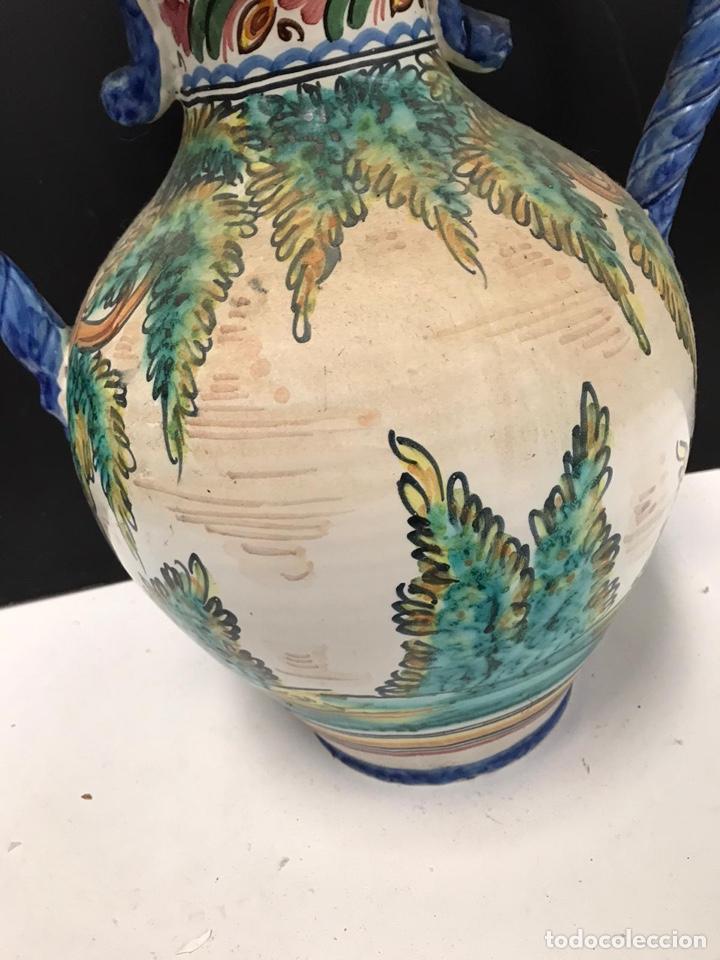 Antigüedades: Gran jarrón de cerámica esmaltada punte del arzobispo siglo XIX - Foto 3 - 194188472