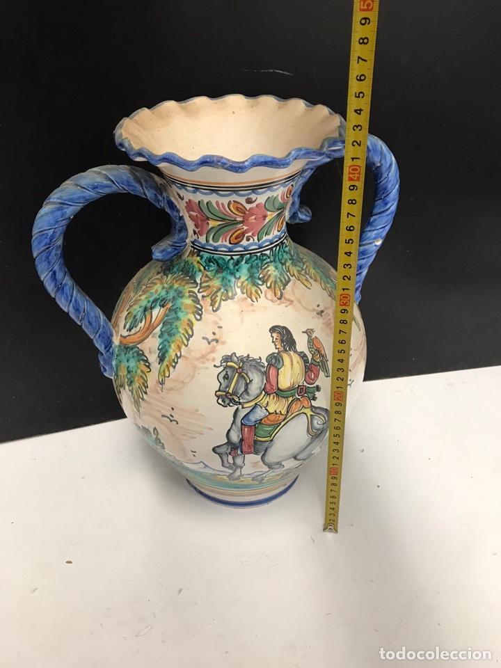 Antigüedades: Gran jarrón de cerámica esmaltada punte del arzobispo siglo XIX - Foto 4 - 194188472