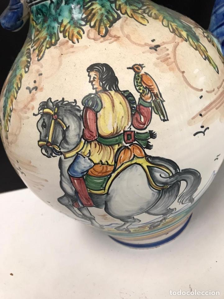 Antigüedades: Gran jarrón de cerámica esmaltada punte del arzobispo siglo XIX - Foto 6 - 194188472