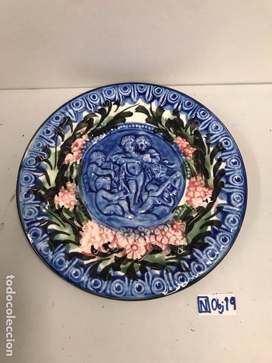 Antigüedades: Plato decoración porcelana esmaltada - Foto 2 - 194190688