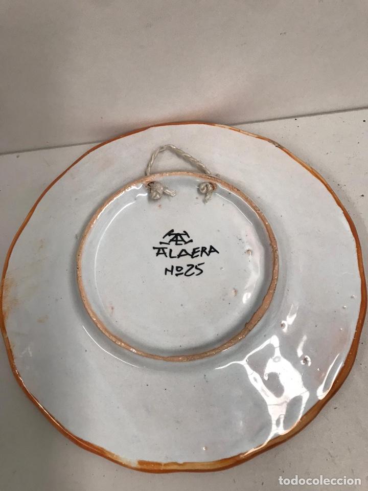 Antigüedades: Plato porcelana Talavera - Foto 2 - 194190951