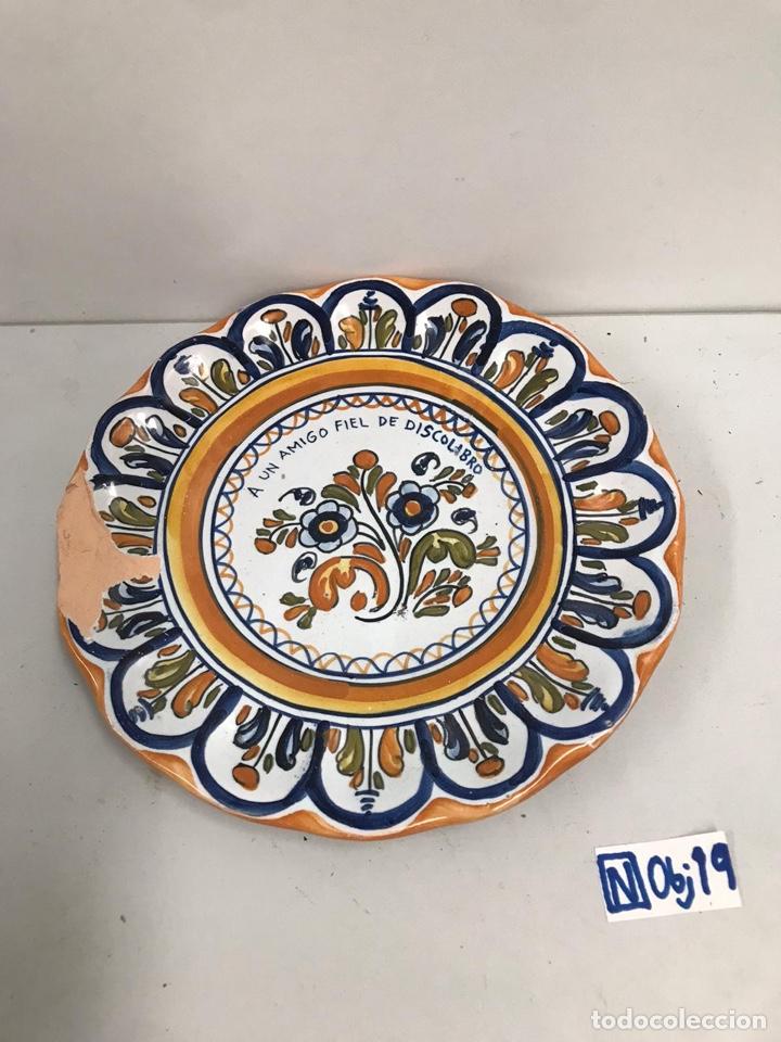 PLATO PORCELANA TALAVERA (Antigüedades - Porcelanas y Cerámicas - Talavera)